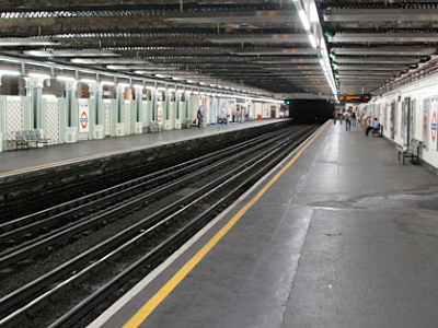 Stepney Green Tube Station Platform