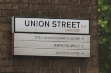 Union Street Road Sign