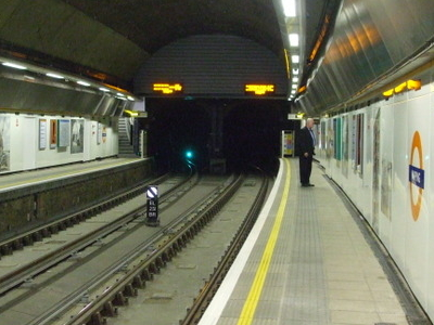 Southbound View Towards Thames Tunnel