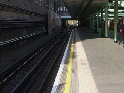 Eastbound Through Platform Looking West