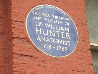 William Hunter Plaque