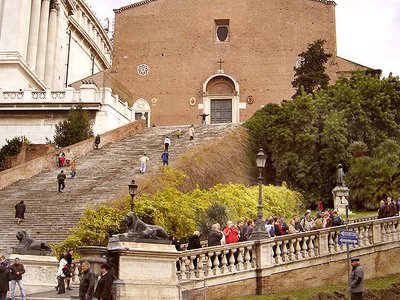 Façade Of The Basilica With The Monumental Staircase