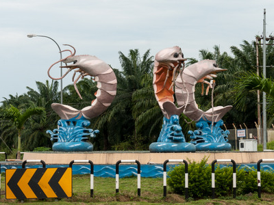 A Roundabout In Kunak Town