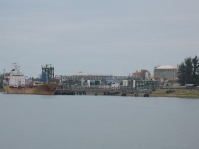 Cargo Loading At One Of The Liquid Chemical Berth At  Kuantan  Port