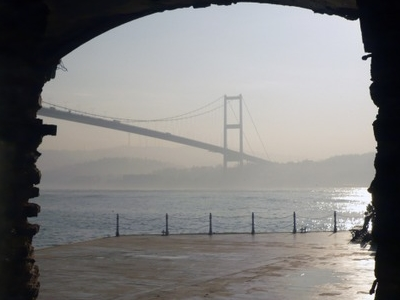 Bosporus Bridge Seen From The Inside Of The Mansion
