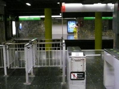 Ticket Gates On The Zona Universitària Side