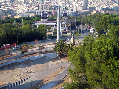 The Cable Car Above The Gardens Of Joan Brossa