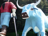 Paul Bunyan And Babe The Blue Ox Statues At Trees Of Mystery