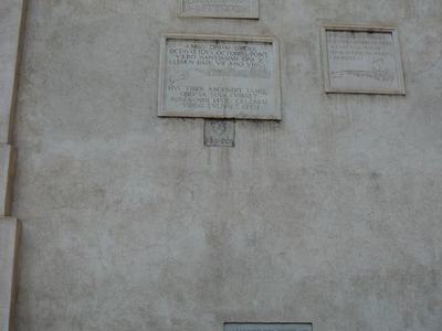 Memorials To The Flooding Of The River Tiber