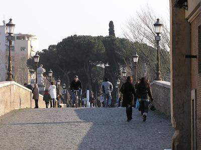 Pathway Over The Milvian Bridge
