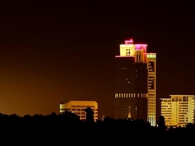 Night View Of Wisma Sanyan