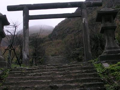 Torii Gate And Stone Tōrō Lanterns