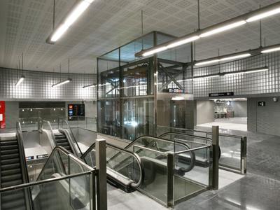 Escalators And Elevators At The Station Hall