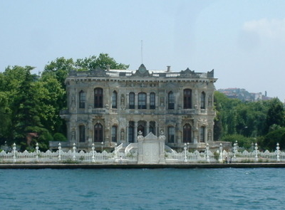 Küçüksu Palace Seen From The Bosphorus