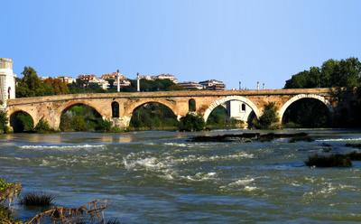 Ponte Milvio Over The Tiber