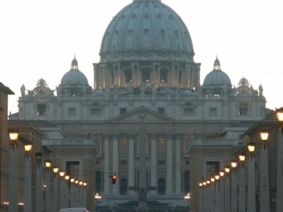 View From Via Della Conciliazione To Saint Peter's Basilica