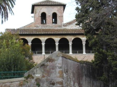 San Saba Seen From Outside The External Wall