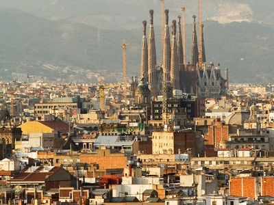 Part Of Eixample And Sagrada Família