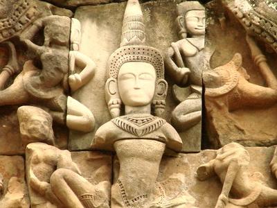 Sculpture     Ta  Keo     Angkor     Cambodia