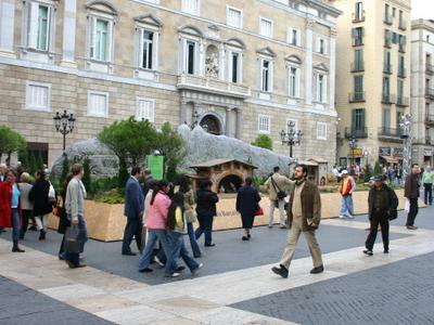 Nativity Scene On The Plaça Sant Jaume