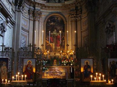 Orthodox Iconostasis And The Altar Of The Church