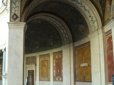The Tunnel Vault Of The Semicircular Portico