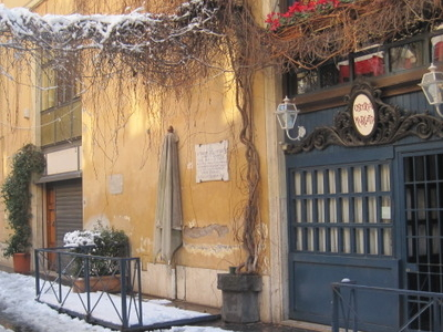 Via Margutta Under The Snow