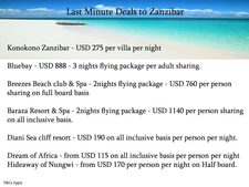 Zanzibar Offer