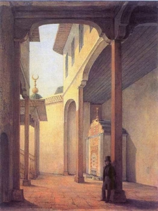 Alexander Pushkin In Bakhchisaray Palace. Painting Of Grigory Chernetsov