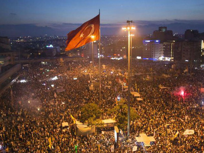 Taksim Square And Gezi Park During The 2013 Protests