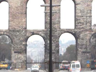 Valens Aqueduct In Fatih