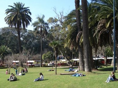 Plaza Francia In The End Of The Avenue