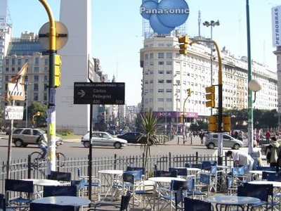 Intersection With Avenida 9 De Julio