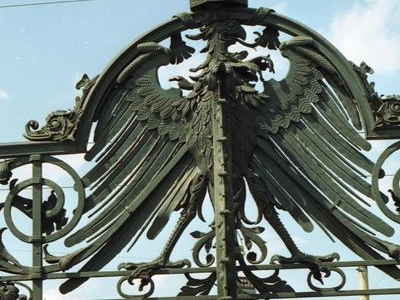 Wrought Iron Imperial Eagle On The Bridge