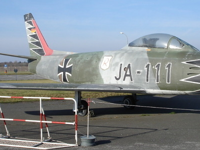 Canadair Sabre With The Markings Of The Fighter Ace Erich Hartmann
