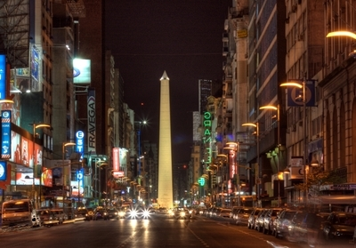 Corrientes Avenue At Night