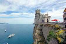 Swallow\'s Nest, Built In 1912 For Oil Millionaire Baron Von Steingel, A Landmark Of Crimea