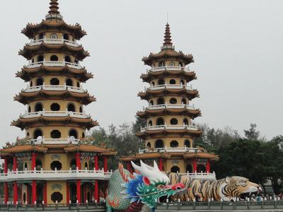 Dragon And  Tiger  Pagodas  0 2