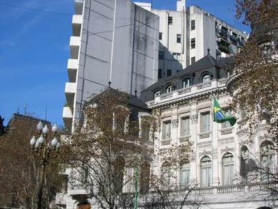French (left) And Brazilian Embassies
