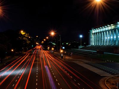 Night Shot Of Figueroa Alcorta Avenue