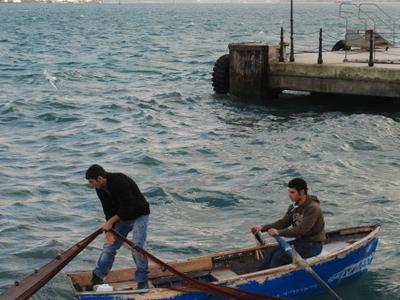 Fishermen In Sarıyer's Harbour