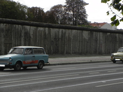 Part Of The Remaining Section Of The Berlin Wall