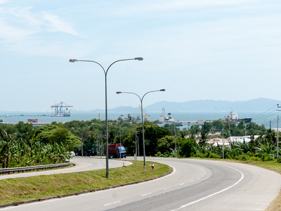 Highway Facing The Sepanggar Bay.