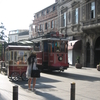 A Historic Tram In Front Of The Beyoğlu Station