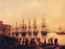 Painting Of The Russian Squadron In Sevastopol By Ivan Aivazovsky (1846)