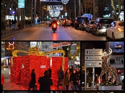 Various New Year Decorations In Kadıköy