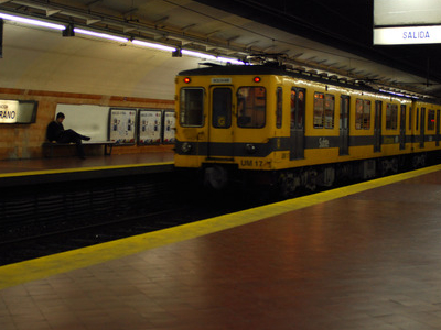 Train At Belgrano Station