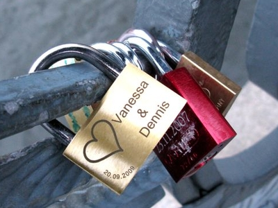 Padlocks Engraved With The Names Of Lovers