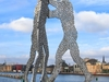 Molecule Man Sculpture On The Spree River, Berlin