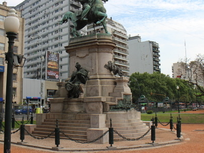 Monument To Giuseppe Garibaldi In Plaza Italia